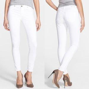 AG The Legging Ankle Super Skinny White Pants